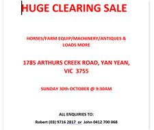 HUGE CLEARING SALE
