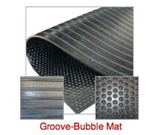Groove-Bubble Mat for Floats and Stables