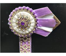 "15"" DIAMANTÉ PURPLE BROWBAND"