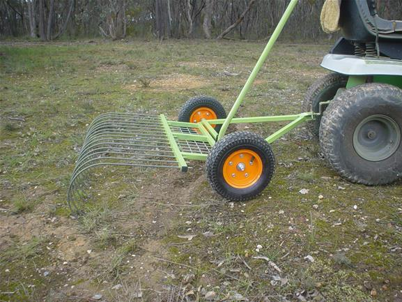 Leaf and Stick Rake for ride-on Mower | Top Horse