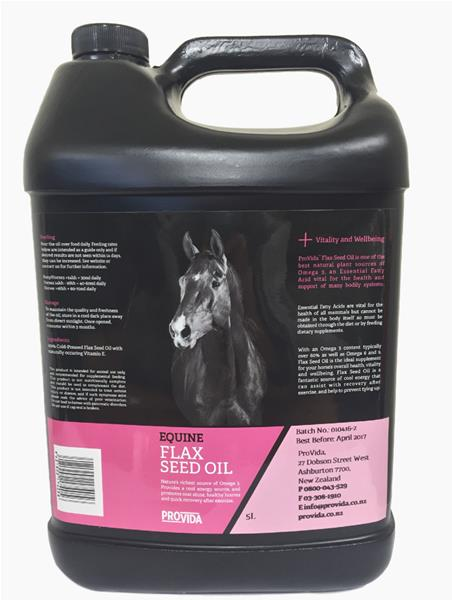 Provida Flax Seed Oil for Horses 5Lt